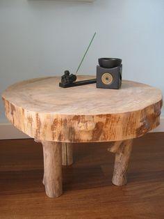 How tо Make а Tree Stump Table