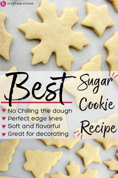 Christmas Cooking, Holiday Desserts, Holiday Baking, Christmas Desserts, Holiday Treats, Holiday Recipes, Christmas Candy, Best Sugar Cookies, Xmas Cookies