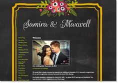 Maybe for Wedding Website? Chalkboard Blossom Preview