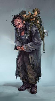 vagabond by DarkEnter on DeviantArt Post Apocalypse, Apocalypse Survivor, Apocalypse World, Cthulhu, Character Concept, Concept Art, Character Art, Zombie Rpg, Apocalypse Character