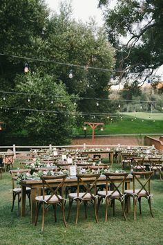 Rustic Wedding Tables || A Romantic Temecula Creek Inn Wedding - Chic Vintage Brides