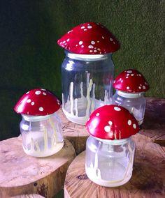 Small Mushroom Stash Jar, Glass Nug Jug with seal from oldcityartmaker on Etsy. Shop more products from oldcityartmaker on Etsy on Wanelo. Diy Clay, Clay Crafts, Arts And Crafts, Mushroom Decor, Mushroom Art, Stash Jars, Clay Art Projects, Indie Room, Cute Room Decor