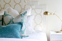 High-End Look for Less: Make a Layered Headboard for $20 No sewing and sawing means no hemming and hawing; just gather some inexpensive materials and get going. Step by step