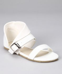 Take a look at this White Cuff Sandal by Beca Michele on #zulily today!