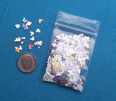 Silver Mickey Mouse Spangles Sprinkles Glitter Pixie Dust for Fish Extender FE Gift