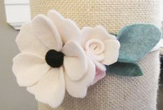Felt Flower Crown Baby Felt Flower Headband-Felt by VivibellesBows