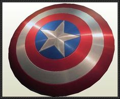 Avengers - Life Size Capitain America Shield Paper Model Free Download