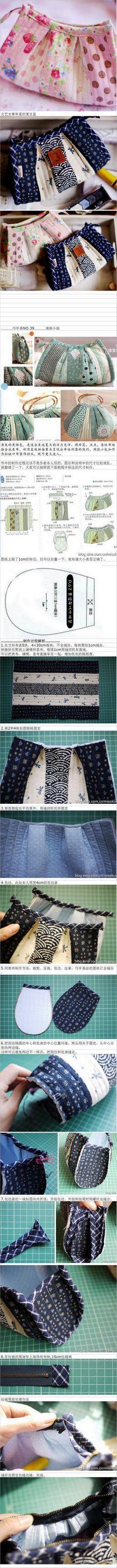 Patchwork Cosmetics Bag Tutorial