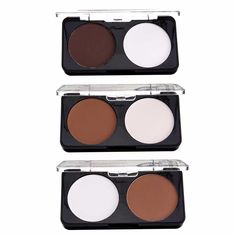 2 Colors Makeup Face Contour Kit Matte Pressed Powder Highlighter Concealer Palette