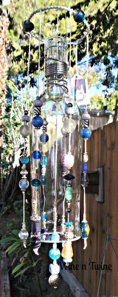 A personal favorite from my Etsy shop https://www.etsy.com/listing/257702371/recycled-wine-bottle-wind-chime