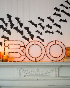 Outdoor LED Boo Sign