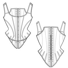 Choose from our range of free corset patterns and start constructing your own corset patterns now - Also, view our video tutorials on corset making. Corset Sewing Pattern, Bodice Pattern, Pattern Drafting, Dress Sewing Patterns, Sewing Patterns Free, Free Sewing, Clothing Patterns, Free Pattern, Fabric Sewing