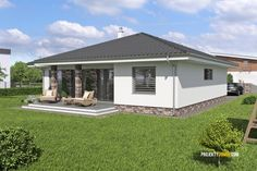 Modern Family House, Modern Bungalow House, Style At Home, Home Fashion, Interior Design Living Room, Farmhouse Style, House Plans, Shed, Outdoor Structures