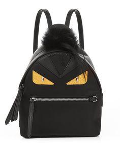 Click here to buy Fendi Bag Bugs mini nylon and fur backpack at MATCHESFASHION.COM