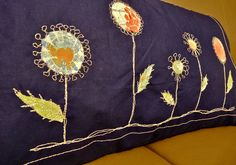 free motion quilting cushion