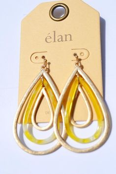 2 layer suede leather gold and pastel earrings.