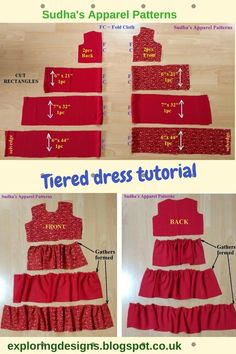 The Tiered Dress Tutorial. I have this dress for a Tiered Dress Tutorial. Ich habe benutzt The Tiered Dress Tutorial. I made this dress for a 3 year old. I have used … – # 3 years - Sewing Baby Clothes, Sewing Shirts, Diy Clothes, Dress Clothes, Barbie Clothes, Dress Outfits, Kids Dress Patterns, Clothing Patterns, Pattern Dress