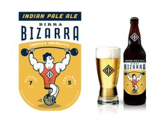 Here's fun beer #packaging for you Paola, Ramon. Birra Bizarra by Martín Azambuja, via Behance. PD