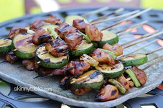 Grilled Chicken and Zucchini Yakitori | Skinnytaste