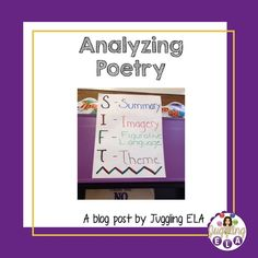 If your students are anything like mine a lot of them don't like poetry. Many of my students get confused by poetry and they give up too eas. Fun Classroom Activities, Senior Activities, Teaching Activities, Teaching Reading, Winter Activities, Learning, Middle School Ela, Middle School English, Teacher Blogs