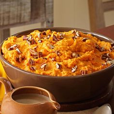 Spiced Sweet Potato Mash Recipe -One year my flight got canceled as I was traveling home. I finally arrived at 1 a.m. the morning of our holiday get-together. I was so tired when I woke up to prepare this dish, but it felt so good when I saw everyone smiling and enjoying what I'd made. —Allison Brummet, Glenarm, Illinois