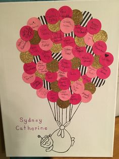 """Baby shower """"Guest Book."""" Kate Spade themed."""