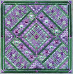 Two-Handed Stitcher: Friday Flowers: NEW DESIGN, Lavender Fields!