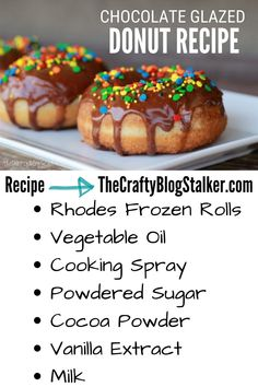 You can make delicious and easy donuts the whole family will enjoy. Click here to learn How To Make an Easy Chocolate Glazed Donut Recipe. #thecraftyblogstalker #chocolateglazeddonuts #donutrecipe #chocolateglazeddonutrecipe Donut Recipes, Snack Recipes, Dessert Recipes, Snacks, Great Desserts, Delicious Desserts, Chocolate Glazed Donuts Recipe, Best Lemon Meringue Pie, Making Donuts