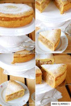 Pyszna szarlotka - PRZEPIS - Kobieceinspiracje.pl Polish Recipes, Polish Food, Food Cakes, No Bake Desserts, Cake Cookies, Vanilla Cake, Baked Goods, Cake Recipes, French Toast