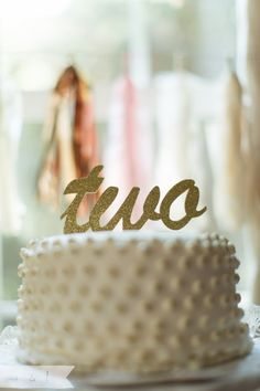 "Custom Cursive Word Cake Topper customize with by TopperAndTwine:: customize for ""ninety five"" for $6.75"