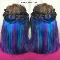 #underlights #mermaidhair #rainbowhair #unicornhair #neon #colormelt #pastel #rainbow