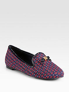 Tory+Burch Chandra+Satin+&+Patent+Leather+Smoking+Slippers.   Bought these. Love them. So comfortable!!!