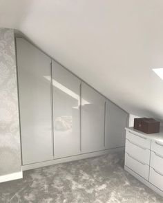Todays job fitted in Rayleigh #bespoke #fittedwardrobes #essex #kent #london #hertfordshire #suffolk #carpentry #carpenter #mfc #mdf #vinylwrap #handles #shaker #fittedfurniture #furniture #bespoke #wardrobes #home #house #storage #design #clothes #drawers #storage #design #interiordesign #uniquefittedfurniture #slope #angle #scribe