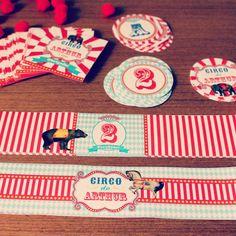 Festa Circo com animais Vintage para a Carol.