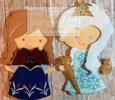 Frozen Anna Outfit For Felt Doll por NettiesNeedlesToo en Etsy