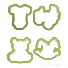 Set 4 cortadores bebé - Decora Cookie Cutters, Fondant, Cookies, Molde, Gum Paste, Crack Crackers, Fondant Icing, Biscuits, Cookie Recipes