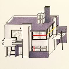 A house filled with light. The Schroder House,1924. Designed by Gerrit Rietvelt in Utrecht. Inspired by Mondrian.