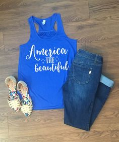 Find yourself the perfect tee or tank for the Fourth of July!  Choose from 4 designs and 4 shirt colors!