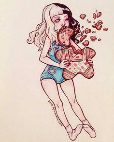 Imagem de art, christmas, and fan art Melanie Martinez Anime, Melanie Martinez Drawings, Crybaby Melanie Martinez, Cry Baby, My Little Pony, Dibujos Cute, Cool Drawings, Crying, Fanart
