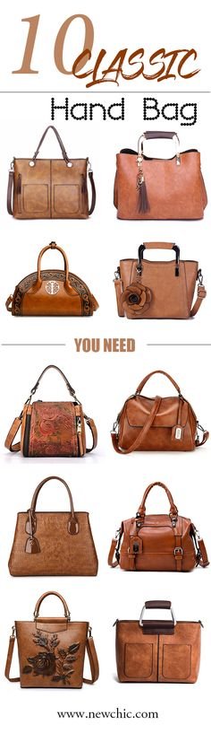 10 classic hand bag you will need.Comfortable and lazy,Suitable for any fashion outfit.