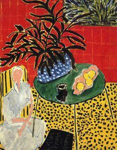 Henri Matisse (French, 1869-1954): Interior with Black Fern, 1948.