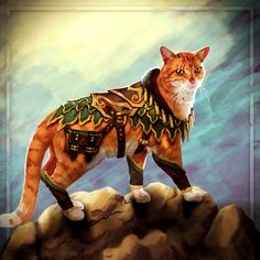 Ser Pounce-A-Lot - Promotional art for Heroes of Dragon Age.