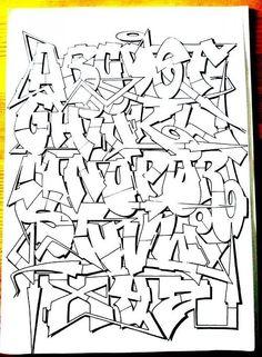 Graffiti Lettering Alphabet, Chicano Lettering, Graffiti Writing, Graffiti Font, Graffiti Tagging, Graffiti Artwork, Calligraphy Alphabet, Islamic Calligraphy, Best Graffiti