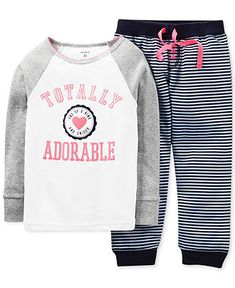 Carter's Toddler Girls' 2-Piece Totally Adorable Pajamas - Kids Toddler Girls (2T-5T) - Macy's