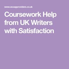 Coursework Help from UK Writers with Satisfaction