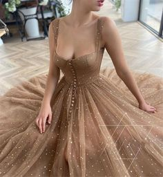 Straps Prom Dresses, Tulle Prom Dress, Ball Dresses, Dresses For Balls, Dress Straps, Sequin Party Dress, Elegant Dresses, Pretty Dresses, Beautiful Dresses