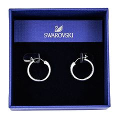 Swarovski Crystal Somerset Hoop Earrings Sm >>> Continue to the product at the image link. (This is an affiliate link) #JewelryForSale