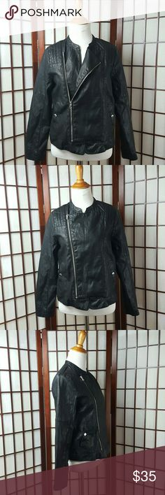 """ZARA GIRLS Cute Biker Jacket Collection Sz 13/14 Pre-owned gently worn  Zara Girls jacket size 13/14 Biker jacket Zip up style 2 pockets  Made of polyester and cotton  Measurements  Pit to pit 18"""" Shoulder to hem 23"""" Zara Girls  Jackets & Coats"""