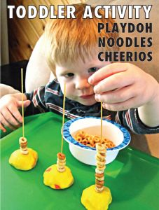 Preschool Math: Noodle & Cheerio Counting-- Also looks great for small motor skills!!