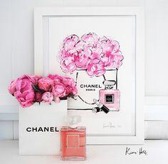 Kerrie Hess — Peonies en CHANEL ༺✿ƬⱤღ http://www.pinterest.com/teretegui/✿༻